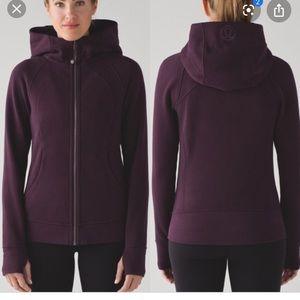 Lululemon burgundy scuba jacket IV size 12